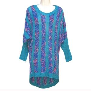 NWT Teal Soft Chenille Cozy Sweater